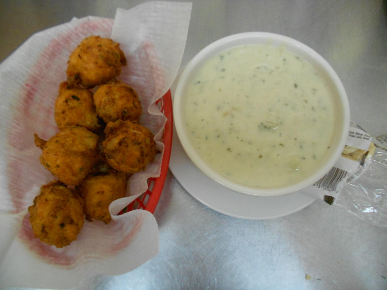 Chowder & Clam Cakes